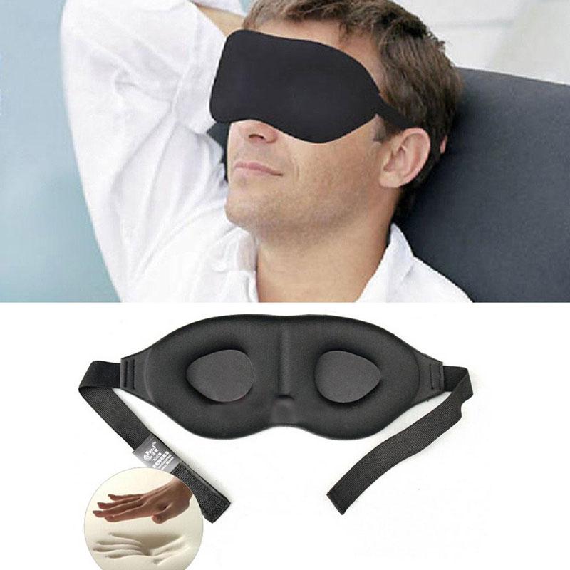 3D Rest Eye Mask Memory Foam Padded Shade Cover Blindfold Sponge Eyeshade for Sleeping цены