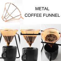 DROHOEY Permanent Filter Kaffee Tropf Motor V60 Stil Kaffee Tropf Filter Tasse Gießen Über Kaffee Maker Edelstahl 1- 2 tassen
