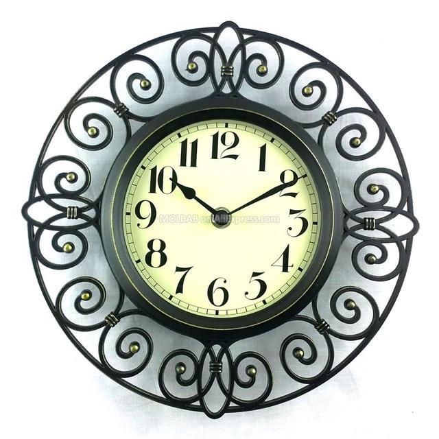 526b8911267 10 pouce Rétro Horloge Murale Couvercle En Verre Numérique Montre Cadran  Vintage Montre À Quartz Artisanat