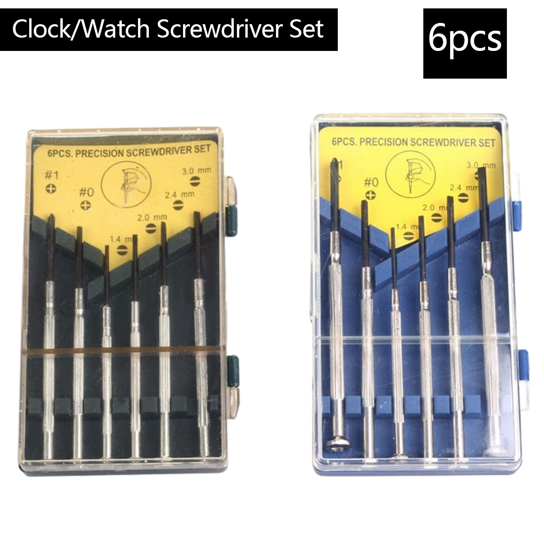 Precision 6pc Mini Screwdriver Set with Slotted Phillips Bits