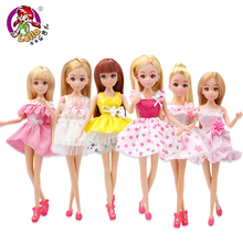 Girl Dolls Toy Collections For Children Birthday Party Gifts 26CM Height Long Blonde Hair Joints Movable Princess Kids Toy