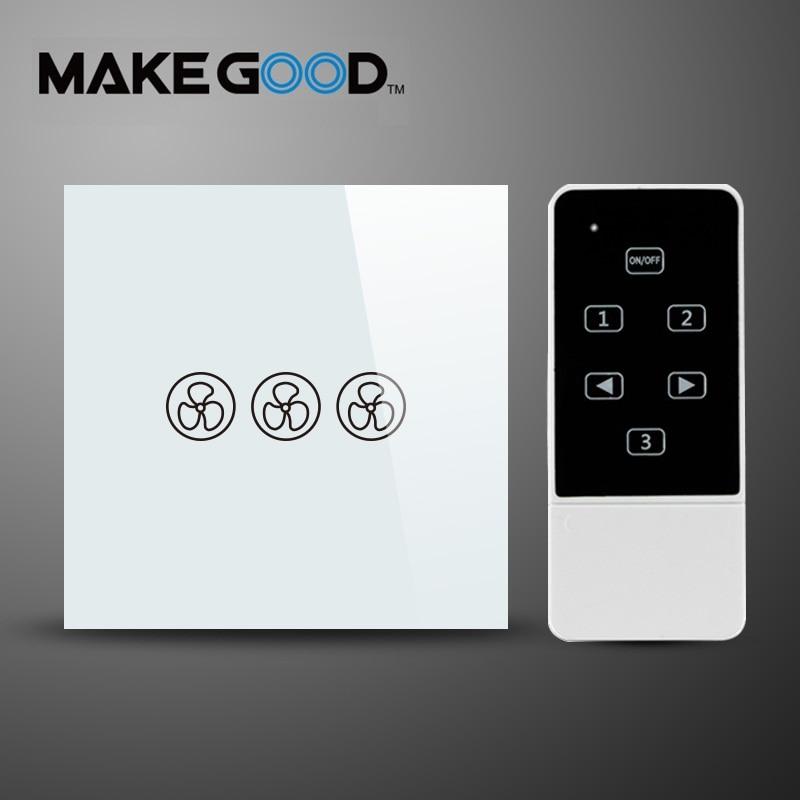 все цены на MakeGood EU Standard Fan Switch Ceiling Fan Wall Control Switch with Touch Switch AC 110-250V/1000W for Ceiling Fan онлайн