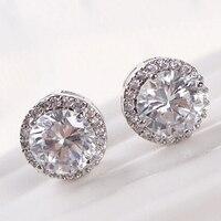 Bluelans 24 pcs Women's Elegant Crystal Zircon Inlaid Ear Studs Plated Earrings Jewelry