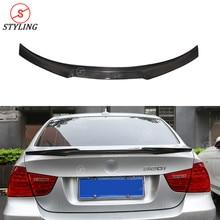 E90 CF Spoiler New M4 Style For BMW Sedan E90 M3 Carbon Fiber rear spoiler Rear trunk wing 2005 2006 2007 2008 2009 2010 2011 стоимость