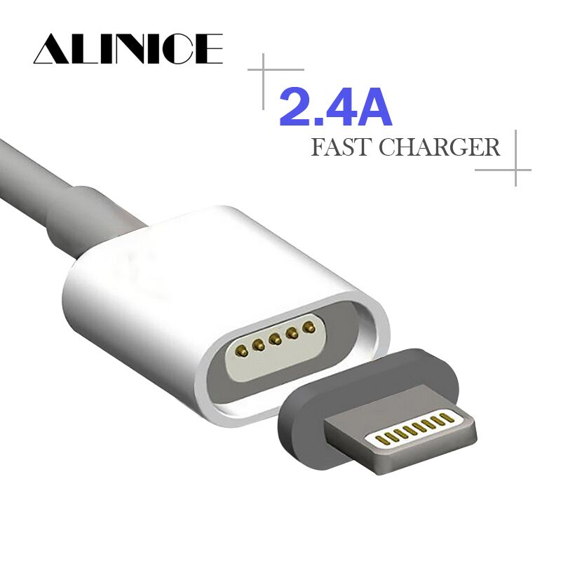 ALINICE 2 4A Magnetic Cable Micro Usb Data Cable for Apple iPhone 6s 7 Plus Charging
