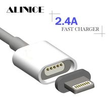 ALINICE 2.4A Magnetic Cable Micro Usb Data Cable for Apple iPhone 6s 7 Plus Charging Cable Android for Samsung ZTE Mobile Phone