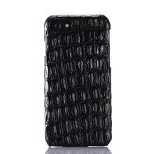 """Роскошные Подлинная Кожа Телефон Дело для iPhone 7 Плюс 5.5 """"4.7"""" 3D Крокодил Кожи Шаблон 6 6 S Плюс Тонкий Жесткий Shell Обложка случаях"""