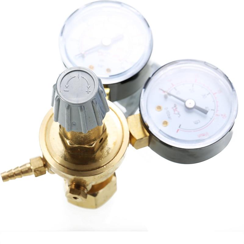 Image 3 - Brass CO2 Argon Meter Reductor Carbon Dioxide Regulator Mini Pressure Reducer Mig Flow Control Valve Used For Welding Or MAGValve   -