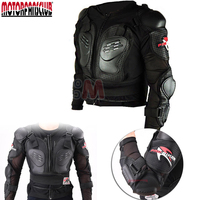 Black Motorbike Motorcycle Body Protection Armor Jacket Offroad Skiing Outdoor Sports Motocross Racing Suit Jacket M