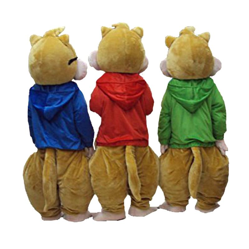 2018 Hot Sale! Ny Alvin og Chipmunks Mascot Kostume Alvin Mascot - Kostumer - Foto 3