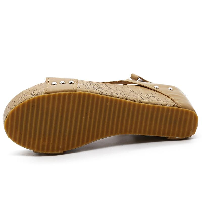 HTB1Qe3gFuSSBuNjy0Flq6zBpVXaM Women Sandals 2019 Platform Sandals Wedges Shoes For Women Heels Sandalias Mujer Summer Shoes Leather Wedge Heels Sandals 43