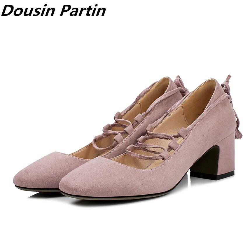 Dousin partin 상위 패션 디자인 여성 펌프 캐주얼 신발 광장 높은 뒤꿈치 무리 레이스 펌프 n5874123-에서여성용 펌프부터 신발 의  그룹 1