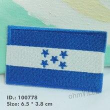 Республика флаг Гондураса железная, ручной работы на патчи для аппликация на одежду 3D вышивка Republica de Гондурас патч