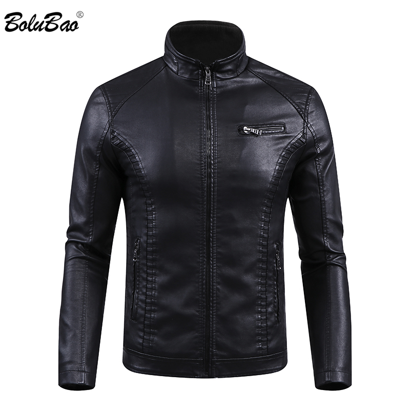 BOLUBAO Brand Men's Leather Jackets Coats Winter Male Fashion Faux PU Jacket Men Comfortable Warm Leather Jackets