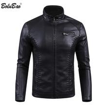 BOLUBAO Brand Men's Leather Jackets Coats Winter Male Fashion Faux PU J