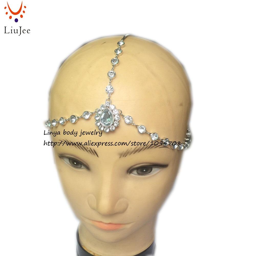 Gold Diamante Kundan Matha Patti Wedding Bridal Goddess Bohemian Head Chain Jewelry & Watches