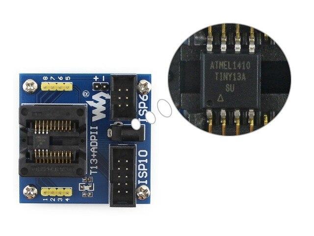 T13+ ADPII ATtiny13 ATtiny12 ATtiny15 ATtiny25 ATtiny45 SOIC8 (208 mil) AVR  Programming Adapter Test Socket-in Demo Board from Computer & Office