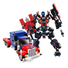 Transformation Series Robot Car figure Bricks City Building Blocks compatible with Creator Educational Toys For Children lepin city 02061 series 870pcs the jungle exploration site set children educational building toys kits compatible with 60161