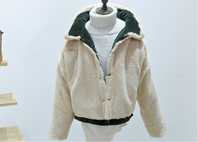 HTB1Qe4GjTnI8KJjSszgq6A8ApXaz woman Loose Corduroy Jacket Women New Thick Winter lambswool Jackets Ladies Cute Outerwear Coat Warm Parka Female