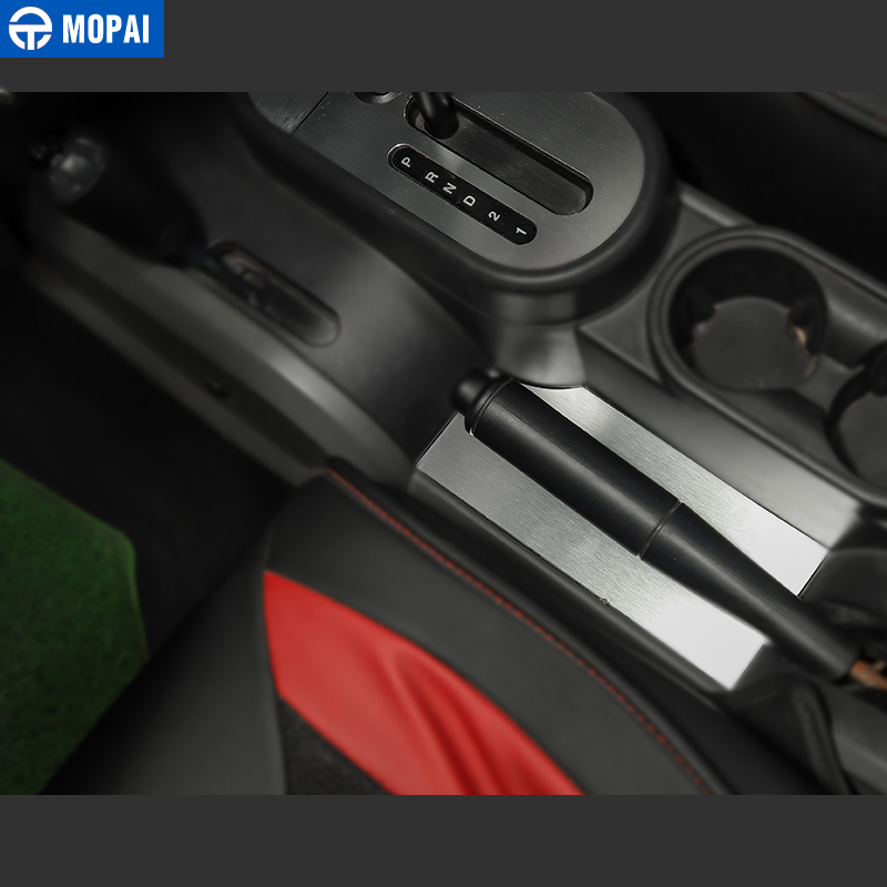 Image 4 - MOPAI Car Gear Shift Knob Panel Trim Cover Stickers for Jeep Wrangler JK 2007 2010 Interior Decoration Car Accessories Styling-in Interior Mouldings from Automobiles & Motorcycles