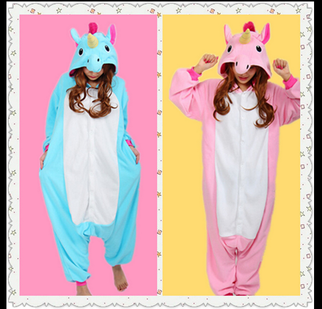 New Animal Pajamas Women Costumes Unicorn Dog Narwhal Owl Cat Bear Squirrel Whale Goat D ...