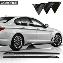 цена на New M Performance Side Stripe Skirt Sticker Decal For BMW F30 F31 X5 F15 F85 E60 F32 F34 F22 F23 E90 F10 F11 F01 F02 G30 F20 F21