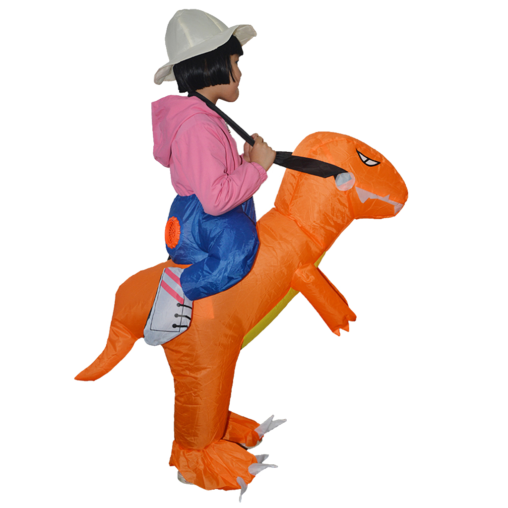 Prettyia Inflatable Dinosaur Riding Funny Costume Suit For Kids Halloween Party Outfits for compact storage