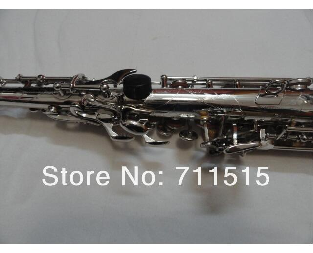 one tube Soprano Saxophone Bb High F, G key nickel plating surface Soprano Saxofone professional music instrument
