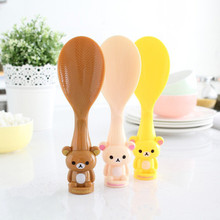 Cartoon Bear Rice Spoon Non Stick Paddle Can Stand Cute Lovely Meal Kitchen Tool @