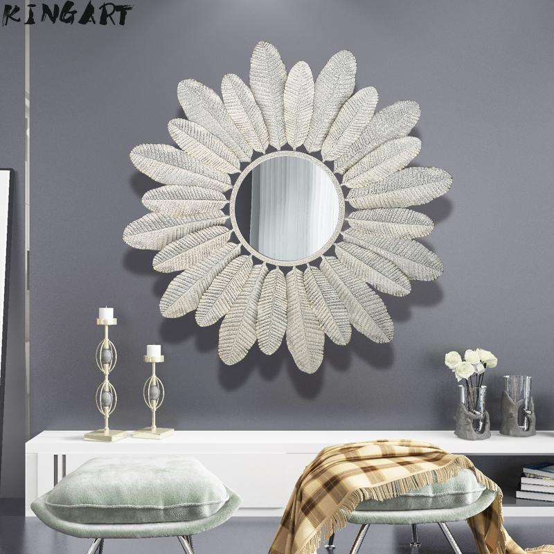 Big Wall Mirror Metal Living Room Wall Decor Frame Mirror Luxury Vintage Wall Decorative Mirror Big Home Mirror 46944777 Decorative Mirrors Aliexpress