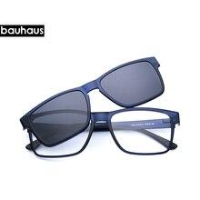 Высококачественные оптические очки с зажимом на магнитах, поляризованные очки для близорукости, солнцезащитные очки для мужчин