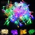 LED coloridas luzes da corda 100 LEDs 10 M led strip lâmpadas luzes da Festa de Casamento Férias levou Natal corda levou ao ar livre luz de tira