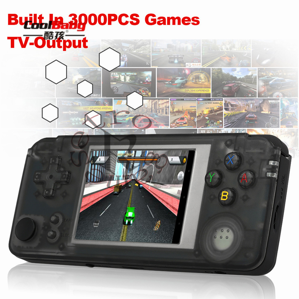 3.0 inch Handheld Game Console Q9 Portable Gaming Machine Music Player Built-in 3000 Classic Games AV + 3.5mm Audio Out TF Slot