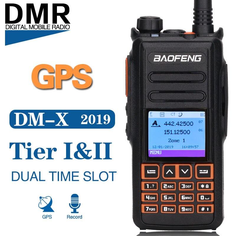 Baofeng DM-X GPS Registrazione Digitale Walkie Talkie Dual Band Dual Slot di Tempo Livello 1 e 2 Tier II DMR Digitale /analogico di Aggiornamento di DM-1702