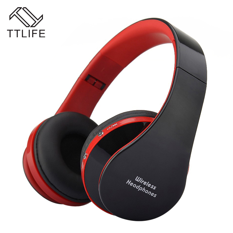 TTLIFE Nx-8252 Bluetooth Headphone With Mic Wireless Stereo Audio Mp3 Music Big Portable Headset For phones Android Smartphone hot sale ttlife smart bluetooth 4 1 earphone upgraded wireless sports headphone portable handfree headset with mic for phones