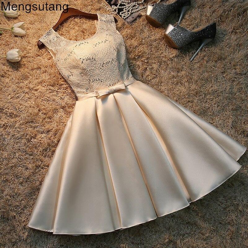 Robe de soirée 2019 courte dentelle grande taille à lacets Robe de soirée vestido de noche robes de bal robes de soirée robes 3 couleurs