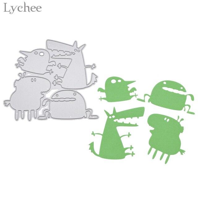 Lychee Funny Monster Metal Cutting Dies Scrapbooking Embossing - monster template