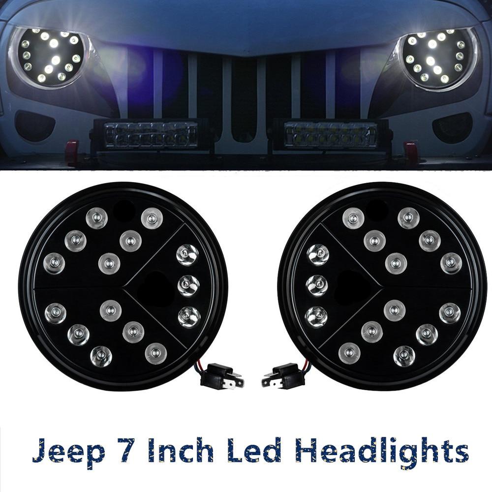 7 inch Arrow Style Round LED Headlights Hi/Low Beam For 97-17 Jeep Wrangler TJ JK / Wrangler Unlimited7 inch Arrow Style Round LED Headlights Hi/Low Beam For 97-17 Jeep Wrangler TJ JK / Wrangler Unlimited