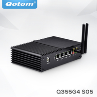 QOTOM Q355G4 2017 New Fanless X86 4 LAN Micro Computer I5 5250U Dual Core Onboard 1080P