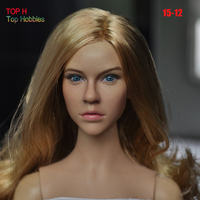 1/6 Head Sculpt KUMIK KM15 12 Female Figure Doll Headplay Fit 12 Inch Figuras De Coleccion Action Figure Gift Collection