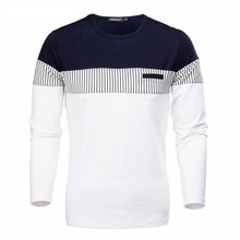 Hot Sale New Men's Sweater Slim O-neck Pullovers Autumn Casual Patchwork Color Full Sleeve Youth Plus Size Clothing M-3XL