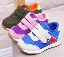 baby boys sneakers running shoes girls sport shoes purple star shoes zapato 2017 new chaussure bebe sapatos SandQ baby fashion(China)