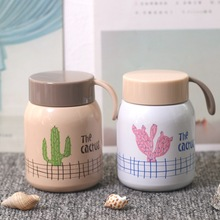 Creative Mini Cactus Thermos Mug Personality  Stainless Steel Vacuum Flask Male And Female Students Hand Cups Water Bottle