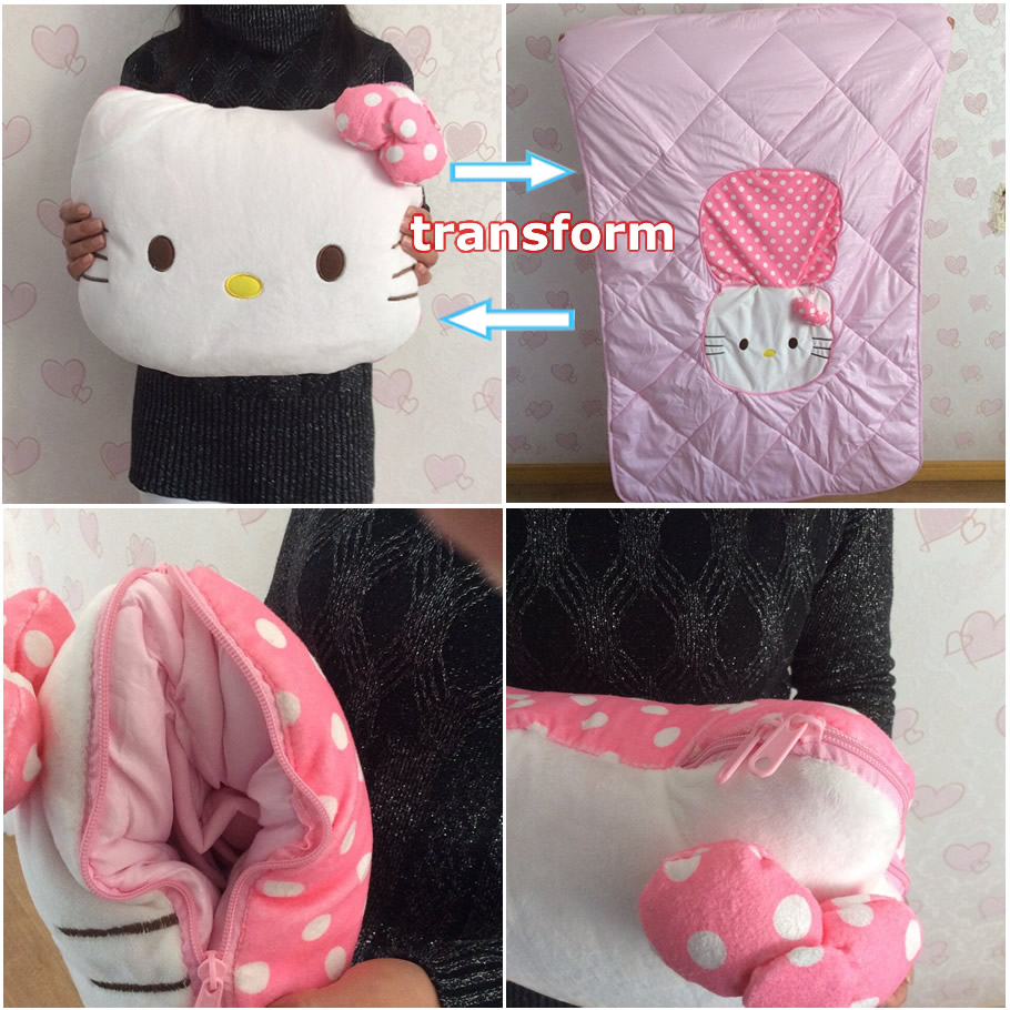 36cm hello kitty pillows stuffed plush toys transform air conditioning quilt good quality special offer