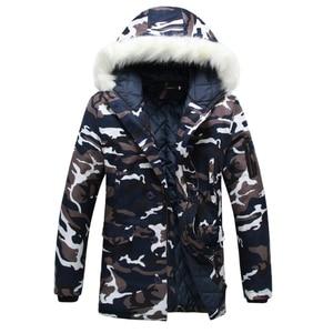 Image 2 - 2020 New Brand Winter Men Thick Camouflage Jacket Mens Parka coat Male Hooded Parkas Jacket Men Military Overcoat