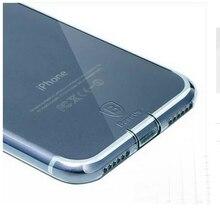 Baseus Terse Мягкие TPU пыленепроницаемый Прозрачная Задняя Крышка Крышка Для iPhone 7 Аксессуар Синий