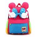 Moda japonesa Bonito Sacos de Escola das Crianças Big Bow 3-6 Anos de Idade Do Bebê Dos Miúdos do jardim de Infância Schoolbag Backpack Para meninas