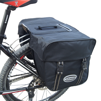 B-SOUL 25L Bicycle Bags Waterproof Mountain Road Bicycle Bike Rack Rear Seat Tail Carrier Trunk Double Bike Pannier Bags