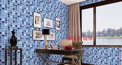 Fashion self adhesive mosaico parete di carta adesivo pavimento di