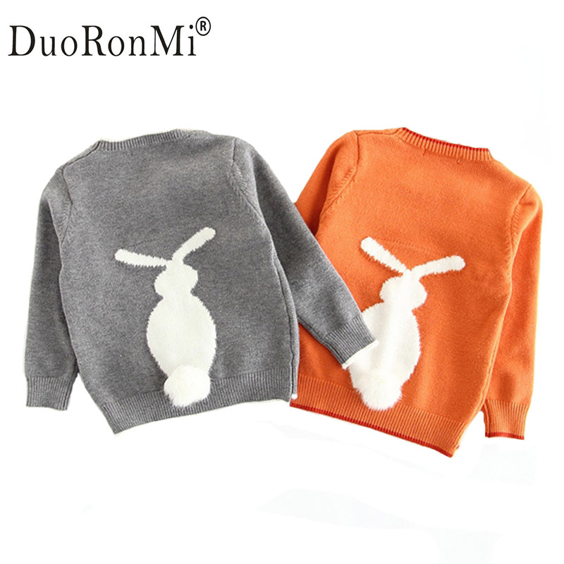 2017 New Matching Mother Daughter Clothes Girls Sweater Spring Casual Knit Rabbit Sweaters Clothing Mother and Daughter Clothes
